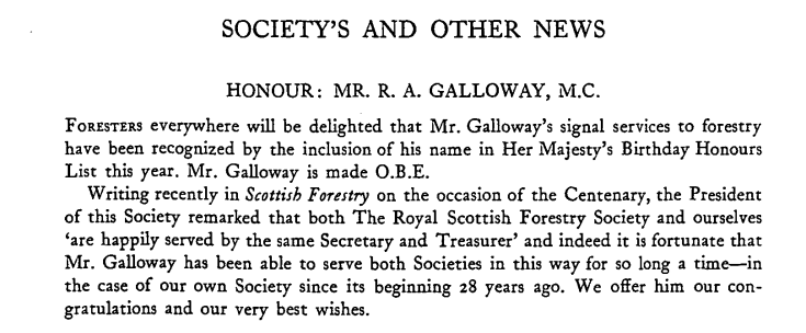 1954 honour for angus in Royal Sc For Soc