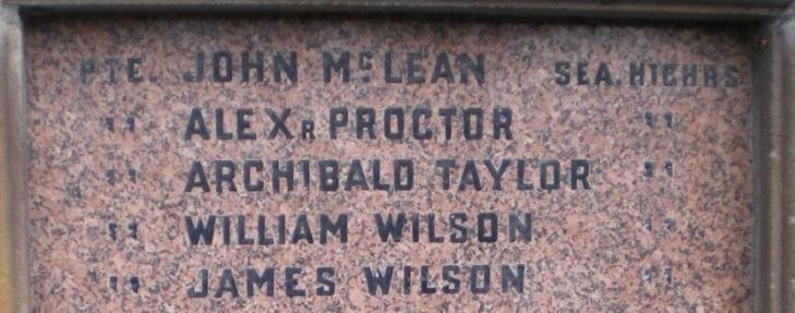 TAYLOR war memorial WW1
